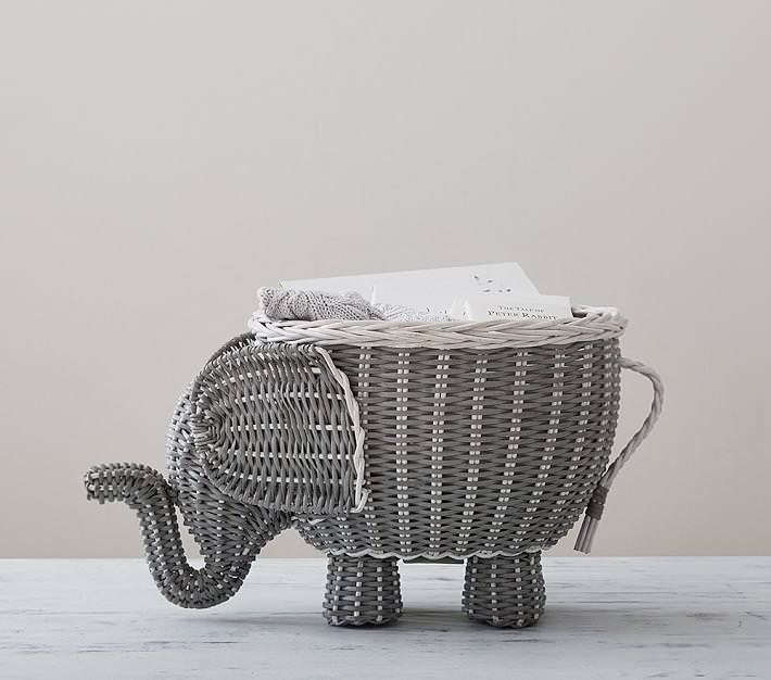 Image of: Best Buy Rattan Elephant Hamper Grey