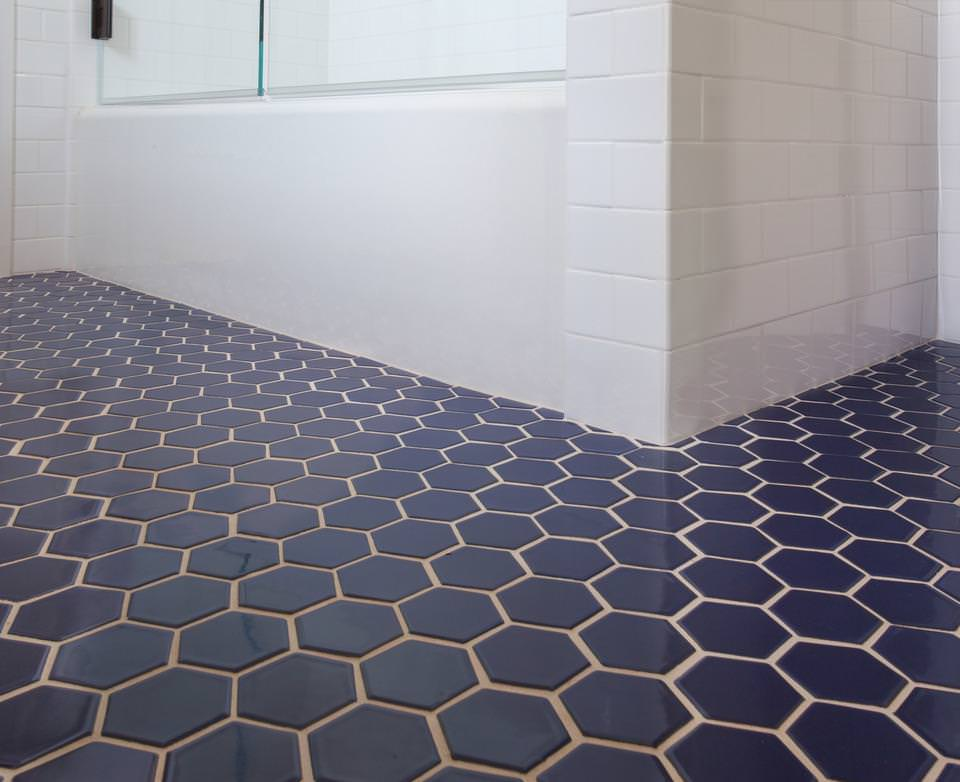 Image of: Blue Hexagon Tile