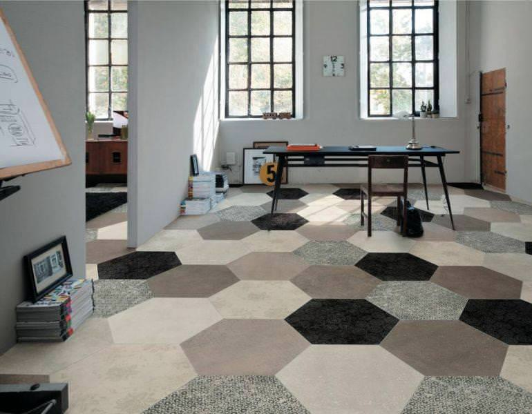 Image of: Ceramic Hexagon Tile