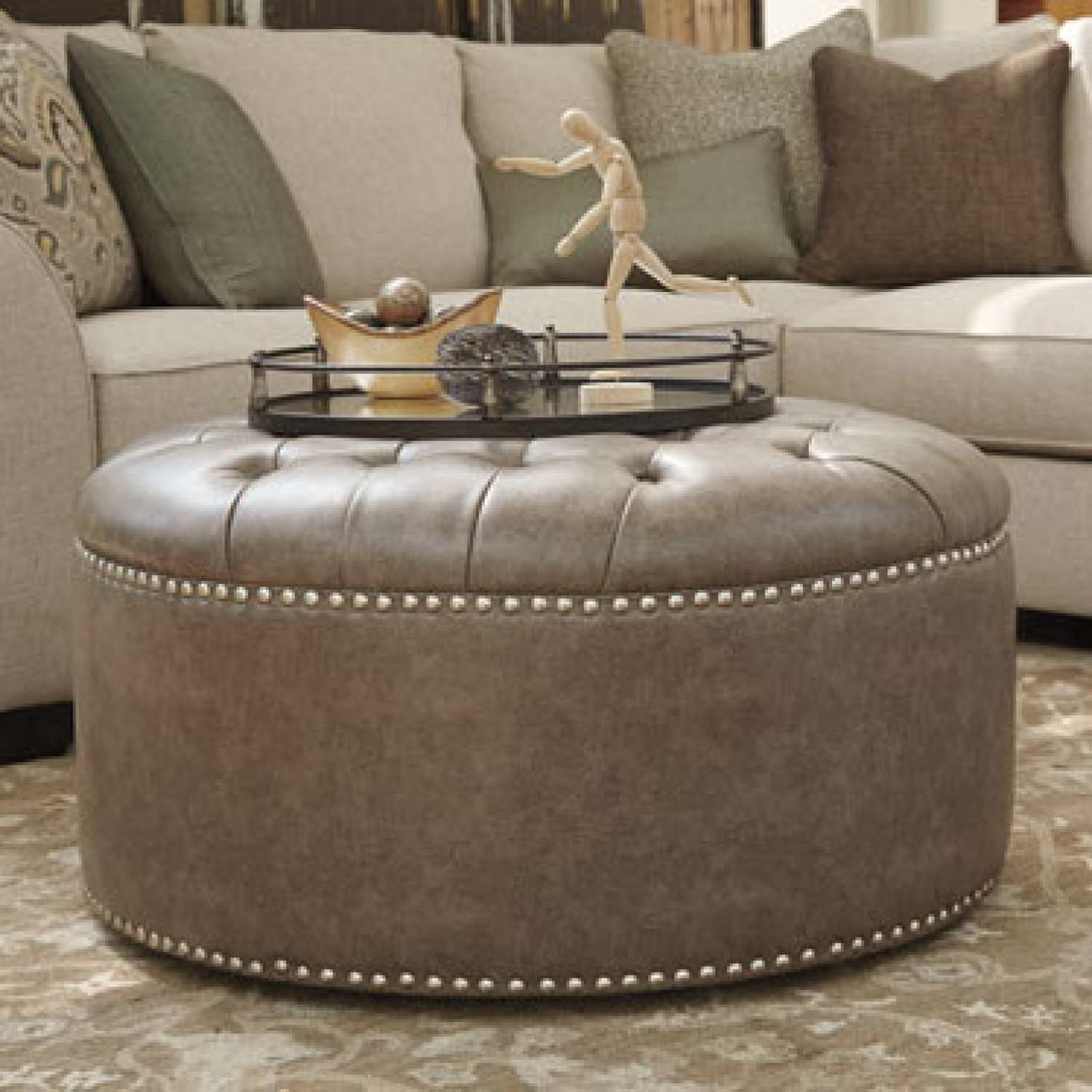 Image of: Cheap Oversized Ottoman