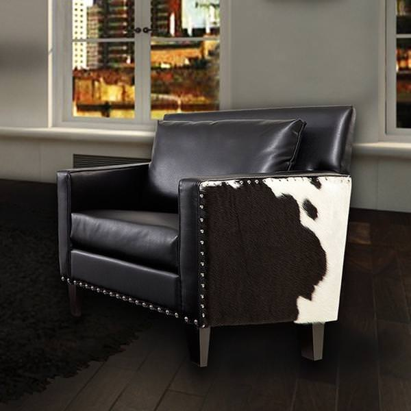Image of: Cool Faux Cowhide Chair
