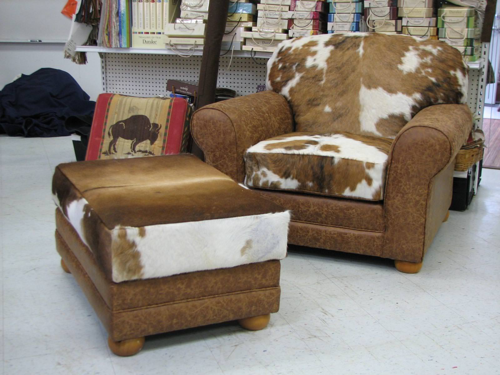 Image of: Cowhide Chairs For Sale