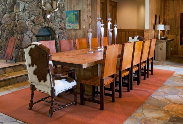 Image of: Cowhide Dining Room Chairs 12