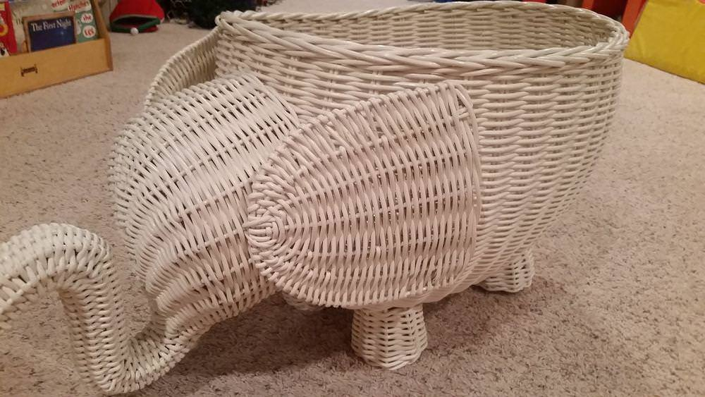 Image of: Elephant Basket Pottery Barn