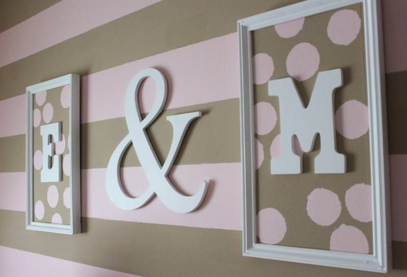 Picture of: Fabric Wall Letters For Nursery
