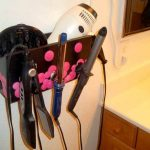 Hair Dryer And Curling Iron Holder