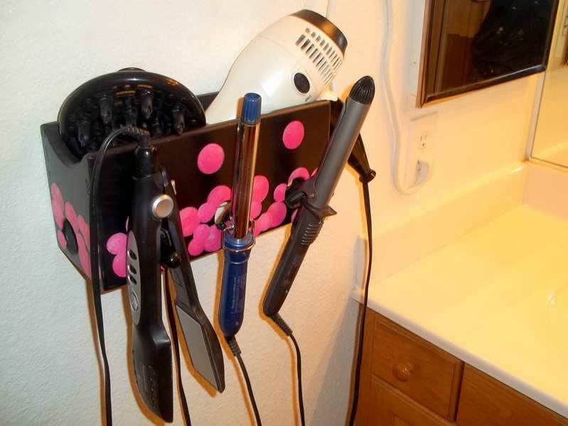 Image of: Hair Dryer And Curling Iron Holder