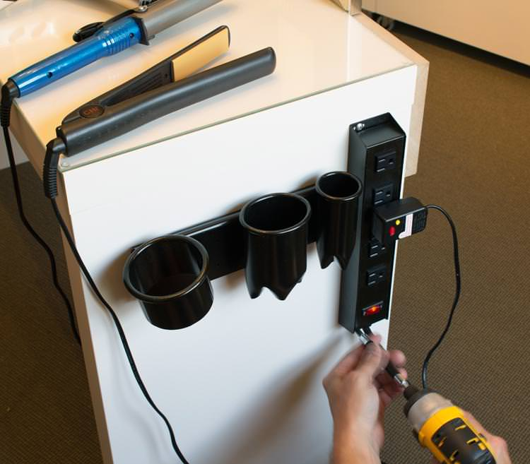 Image of: Hair Dryer Holder Diy