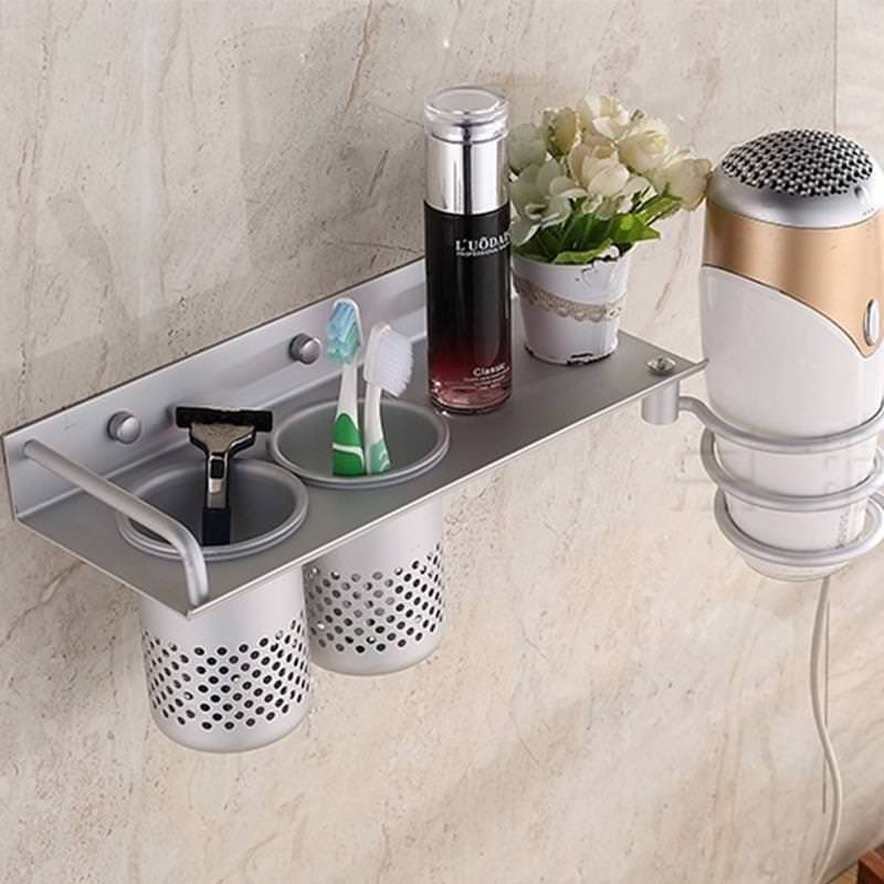 Image of: Hair Dryer Holder Ikea