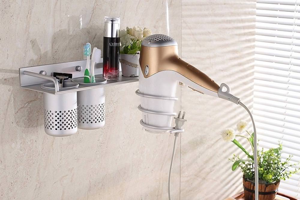 Image of: Hair Dryer Holder Walmart