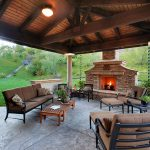 Indoor Outdoor Wood Burning Fireplace