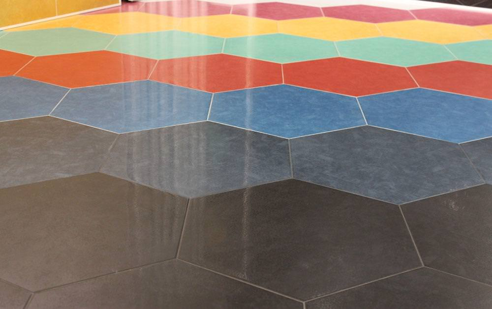 Image of: Large Hexagon Tile