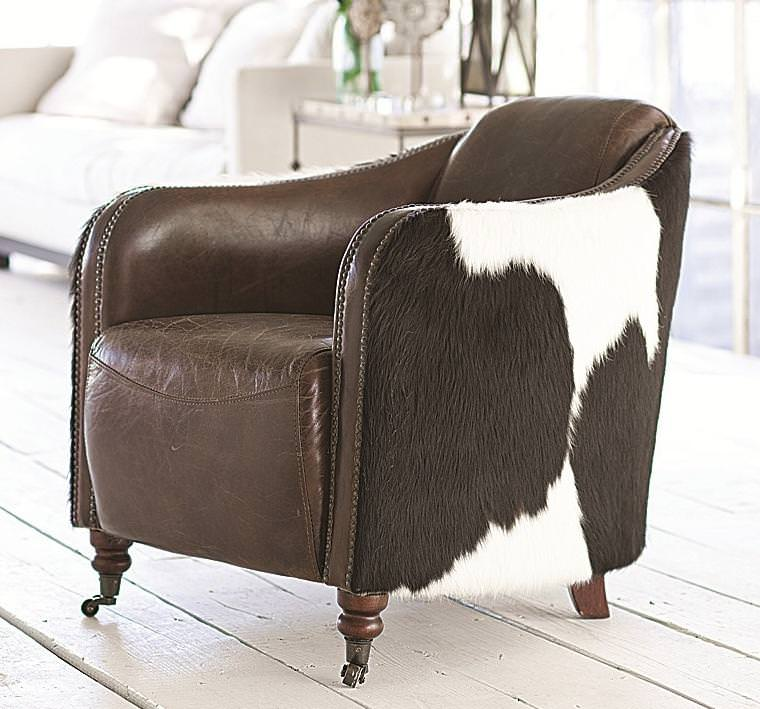 Image of: Latest Cowhide Dining Chair Walmart