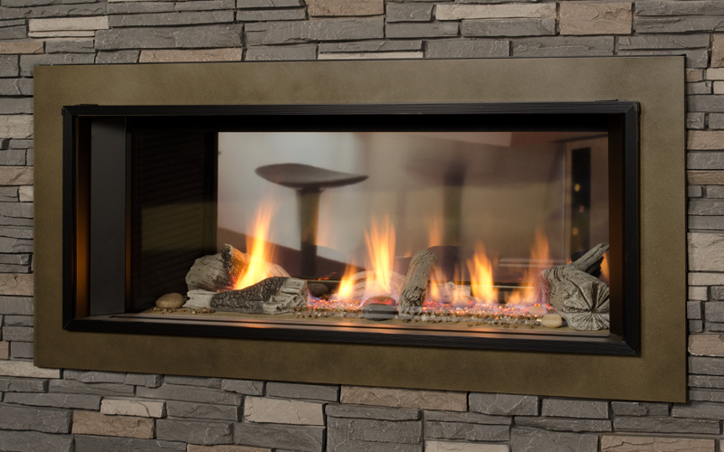 Image of: Latest Two Sided Gas Fireplace
