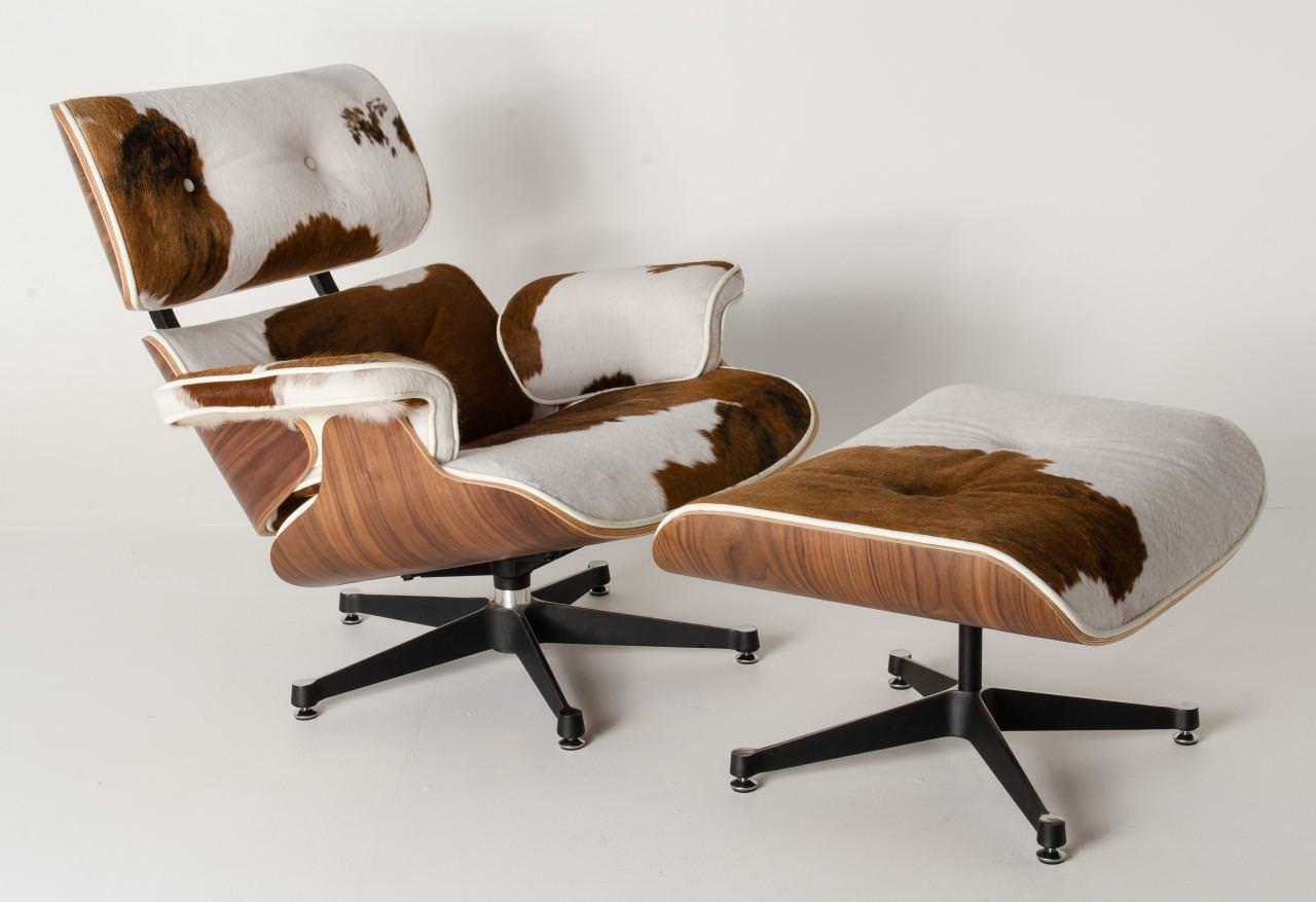 Image of: Loe Cost Real Cowhide Chair