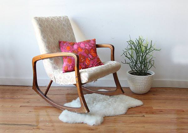 Picture of: Low Cost Small Nurseryworks Rocking Chair With Cushion