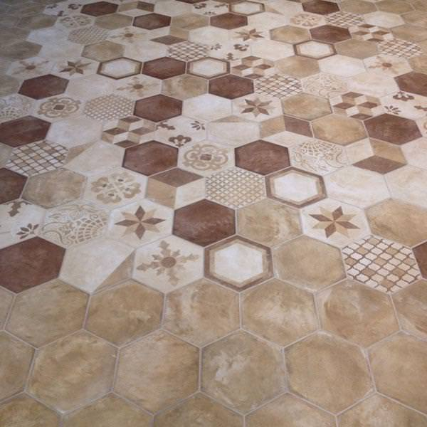 Image of: Marble Hexagon Tile