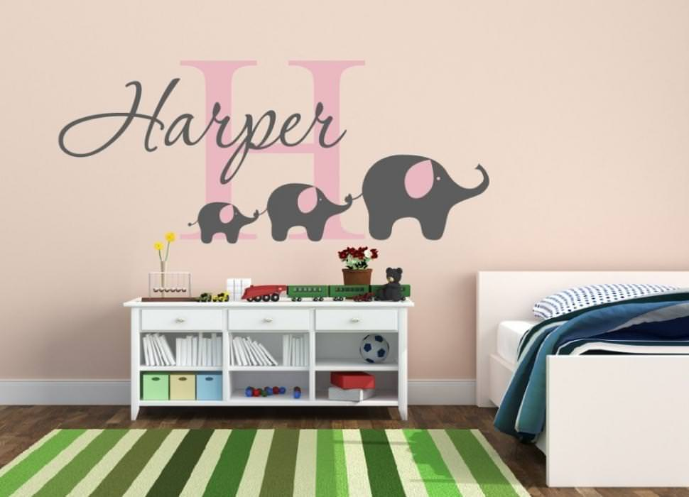 Picture of: Nursery Wall Decals Elephant