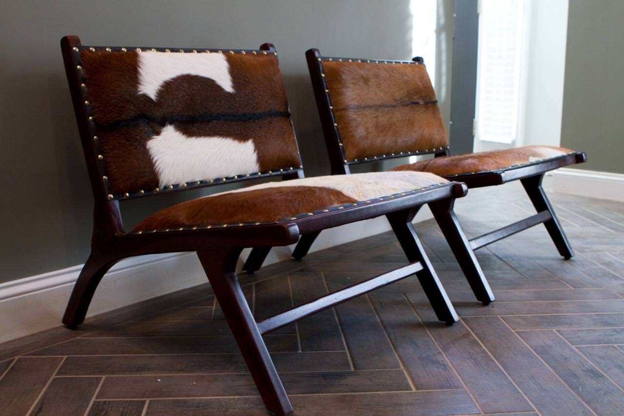 Image of: Original Cowhide Chairs Ikea
