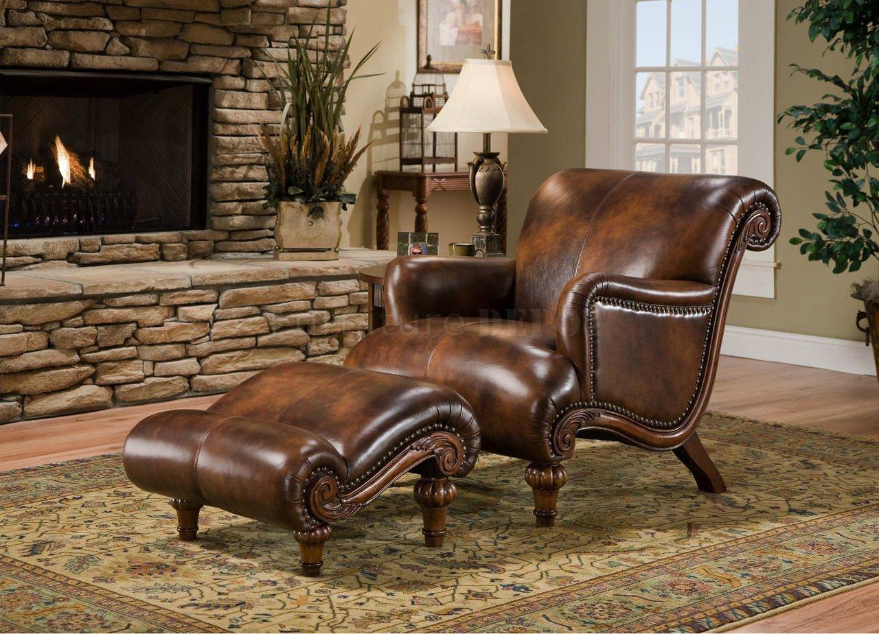 Image of: Oversized Leather Ottoman