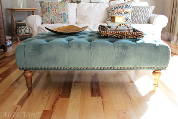 Image of: Oversized Ottoman Blue