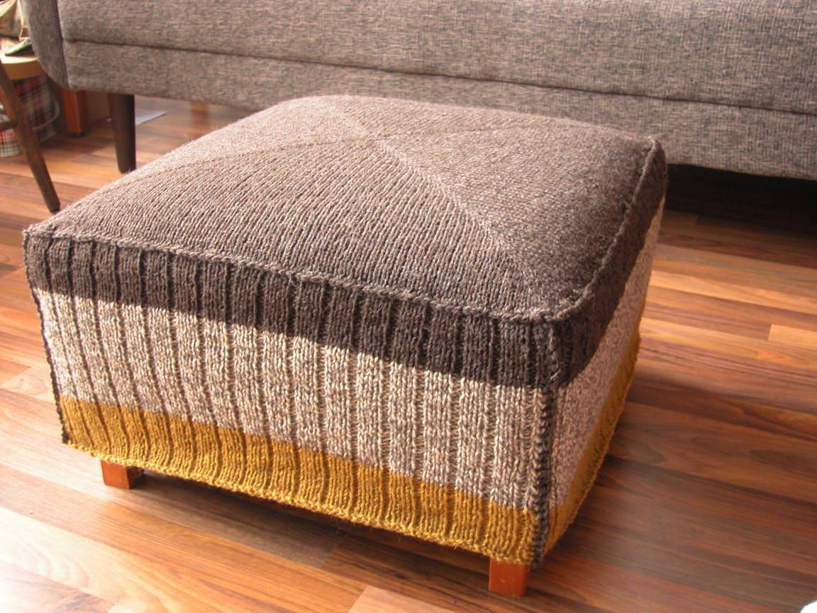 Image of: Oversized Ottoman Grey