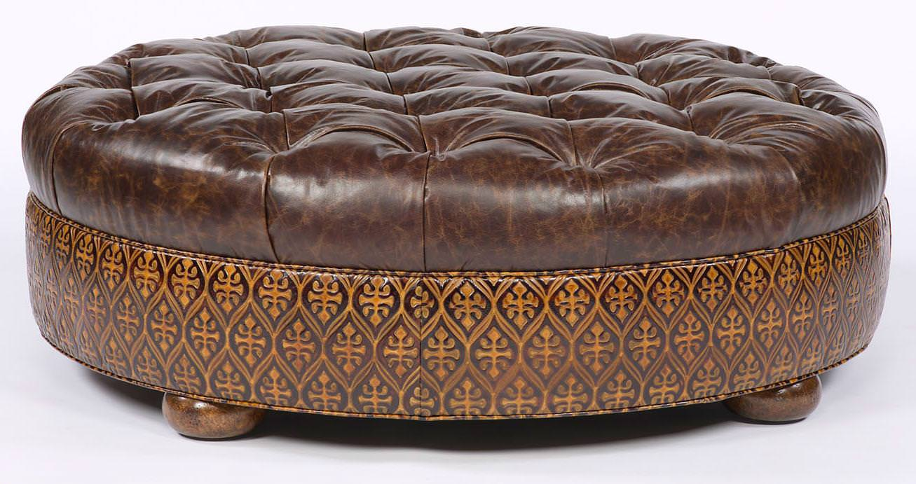 Image of: Oversized Round Ottoman