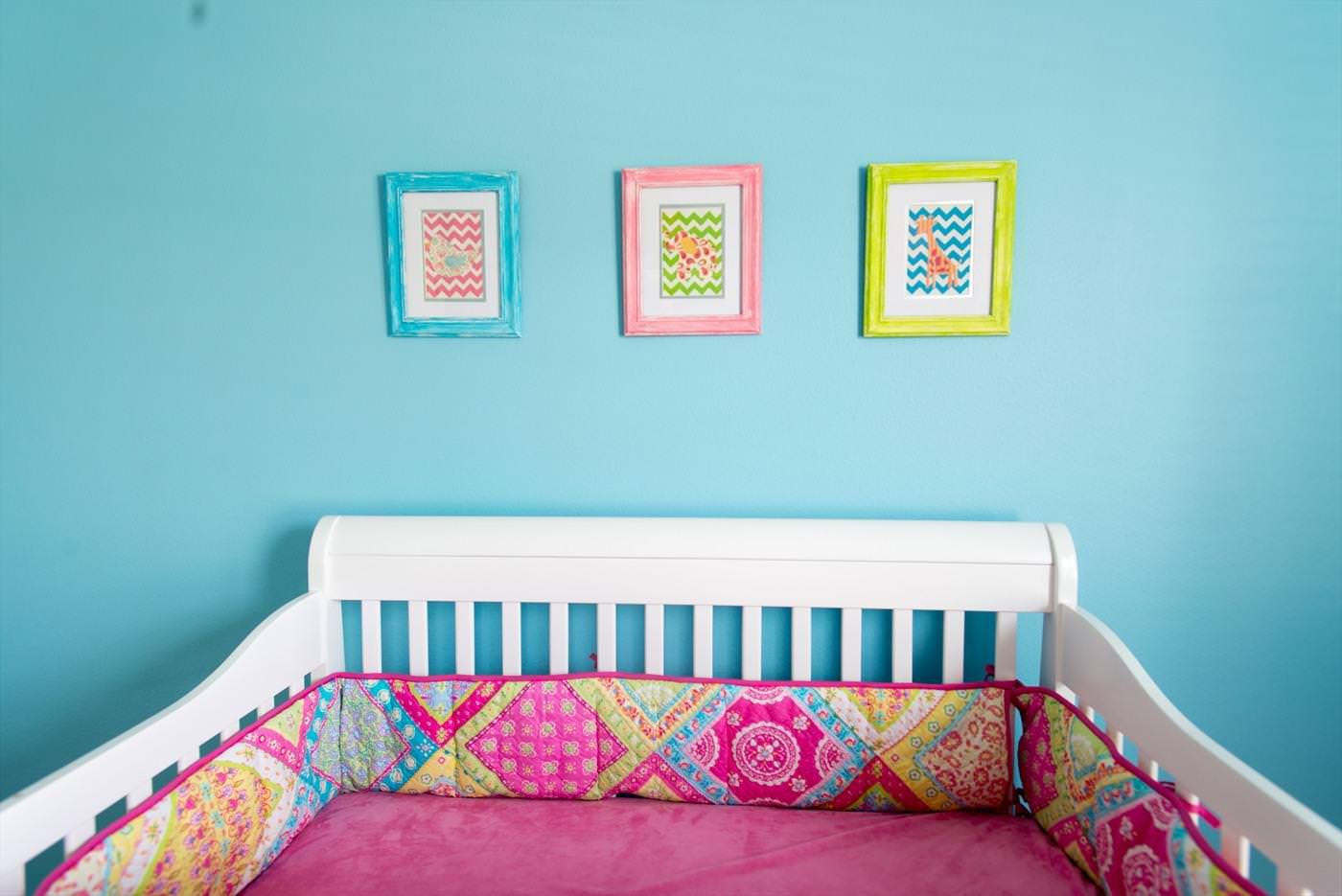 Image of: Pink And Aqua Nursery Bedding