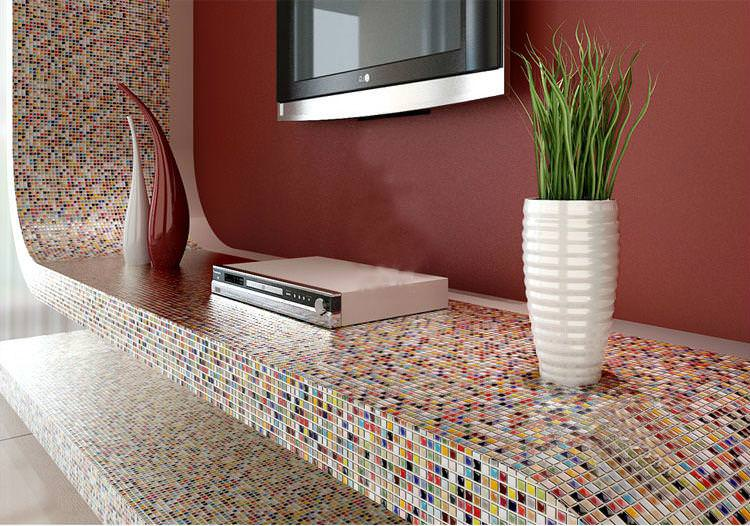 Image of: Porcelain Mosaic Floor Tile