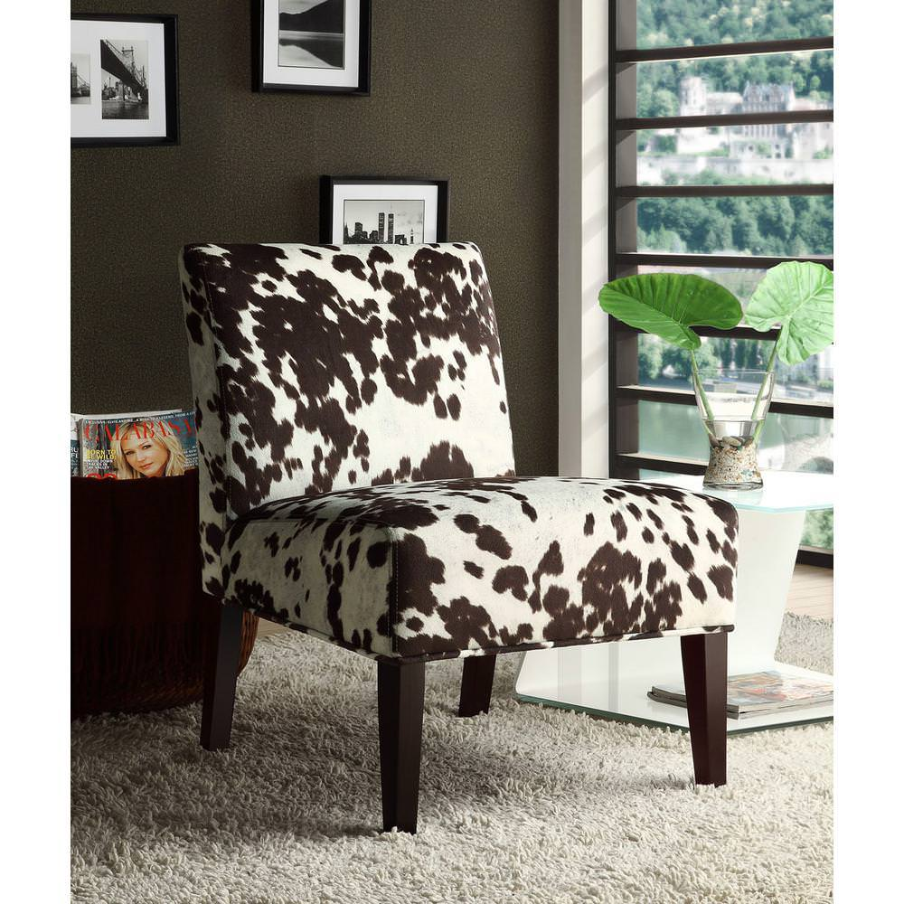 Image of: Small Cowhide Side Chair