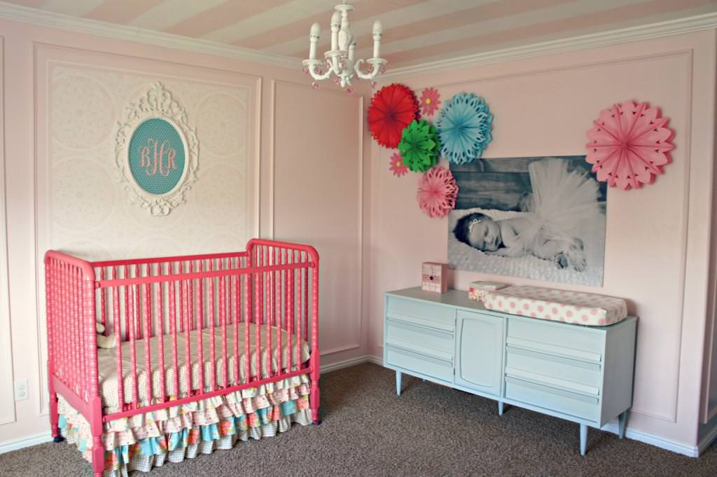 Image of: Turquoise And Pink Nursery