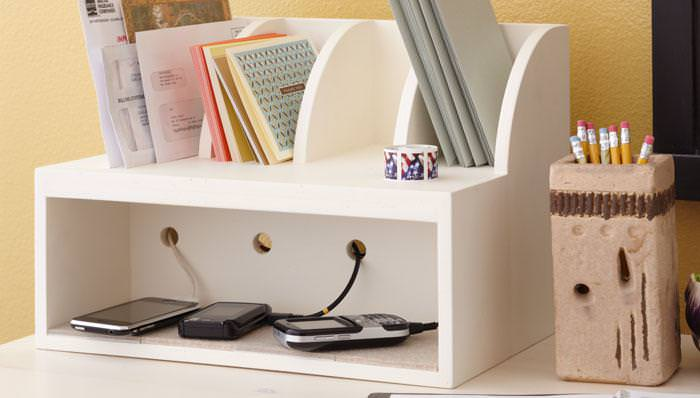 Image of: Used Charging Station Organizer Diy