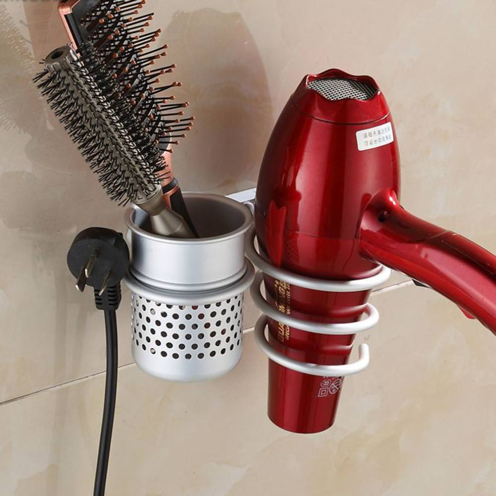 Image of: Wall Mounted Hair Dryer Holder