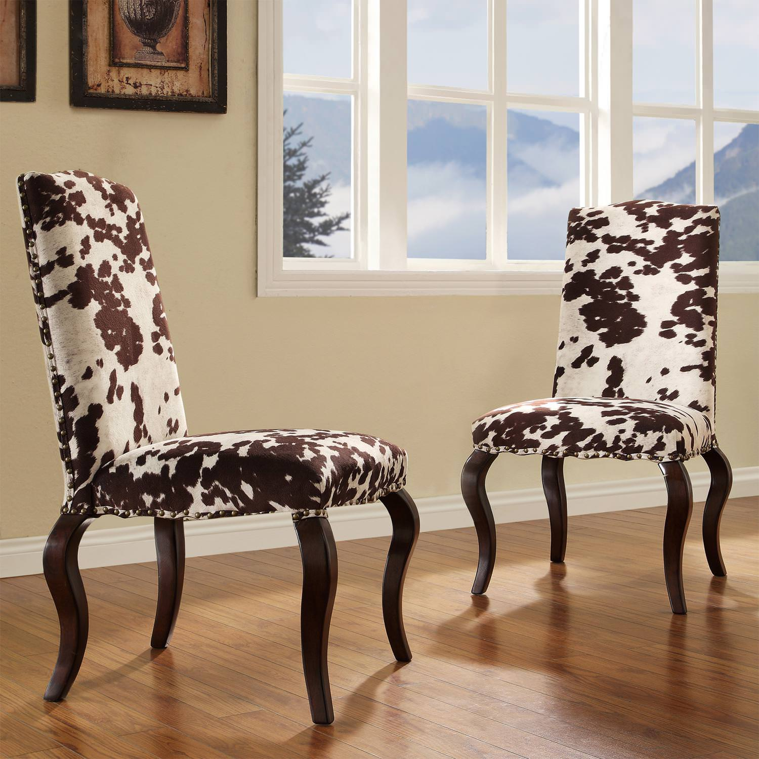 Image of: Western Cowhide Chairs