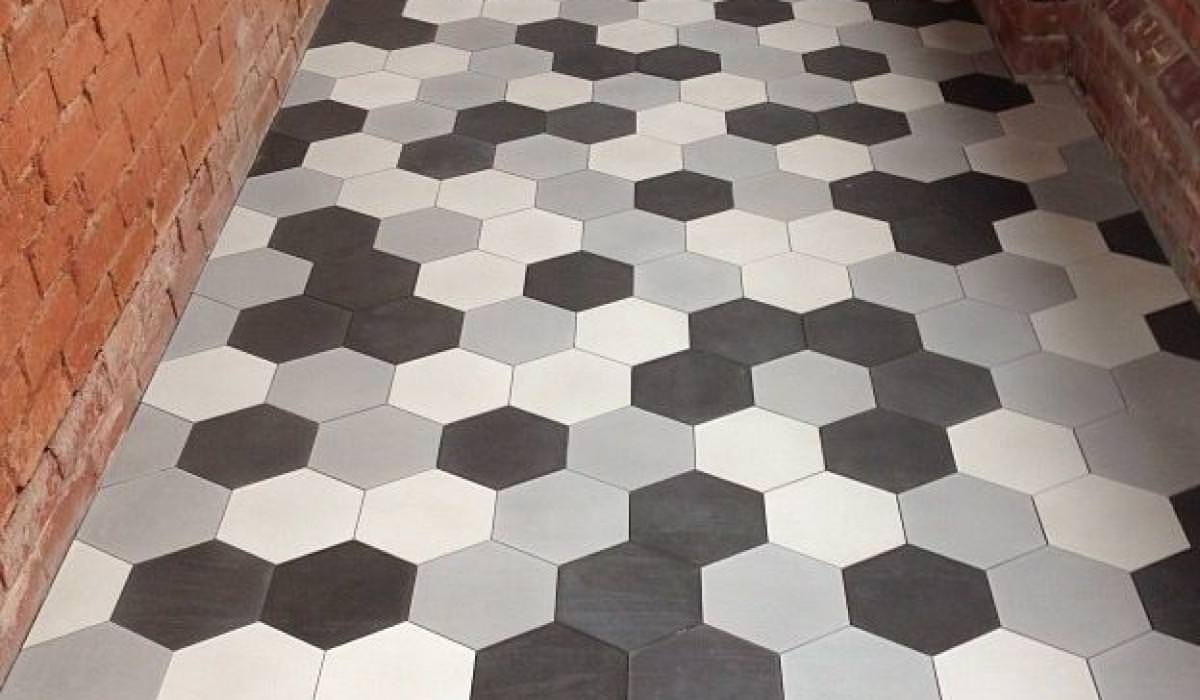 Image of: White Hexagon Tile