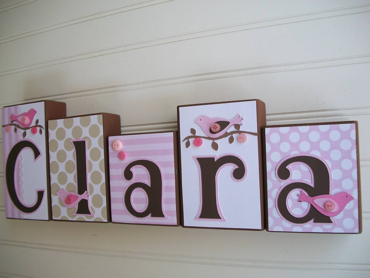 Picture of: Wooden Baby Name Letters For Nursery