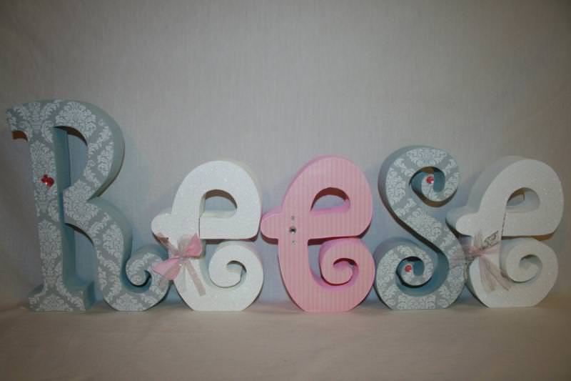 Picture of: Wooden Letters For Nursery Door