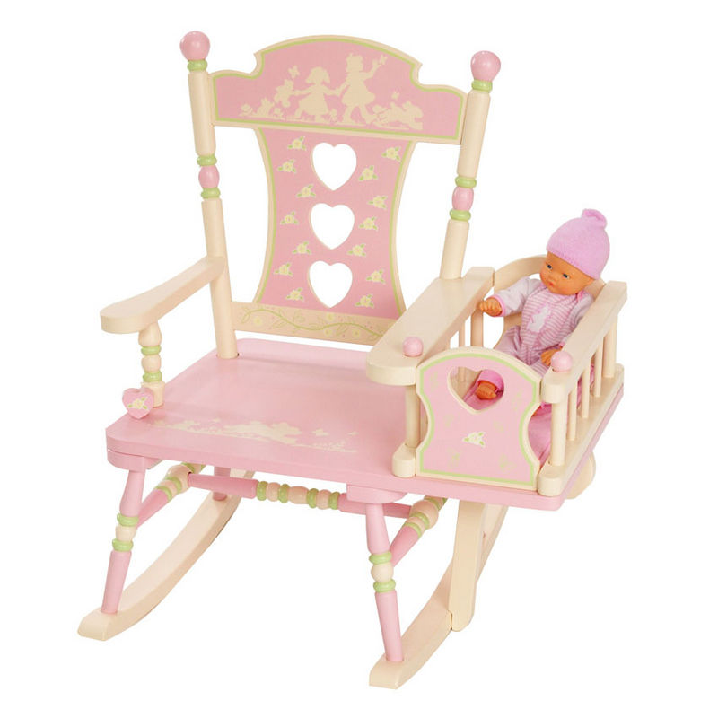 Image of: Baby rocking chair with pink