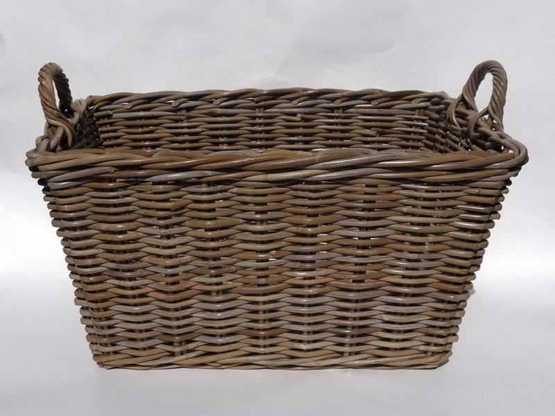 Image of: Best Grey Large Wicker Baskets