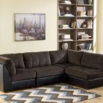 Black modular sectional sofa
