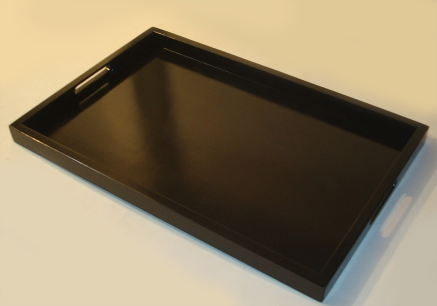 Picture of: Brown ottoman tray