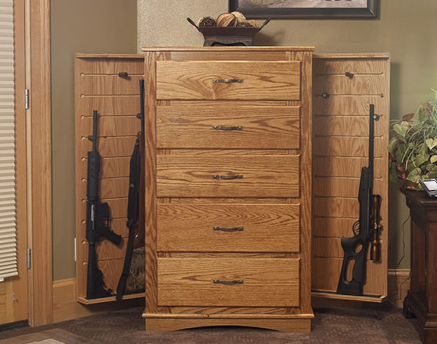 Chest hidden gun cabinet