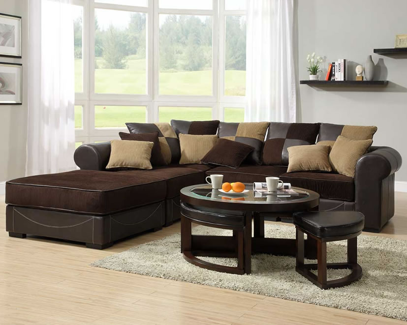 Picture of: Corduroy modular sectional sofa