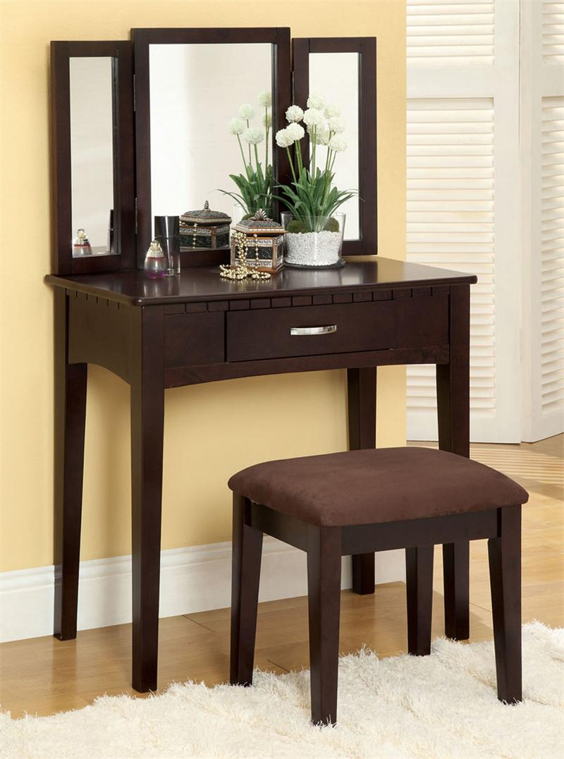 Espresso Makeup Vanity Tables