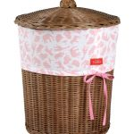 Girls Wicker Laundry Basket