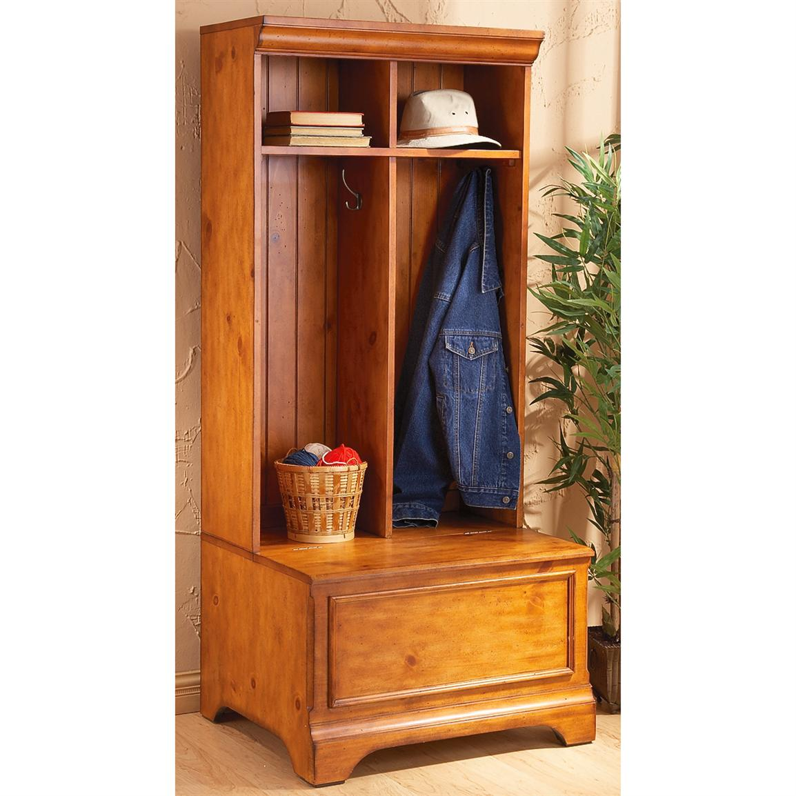 Picture of: Hall Tree Storage Bench Image