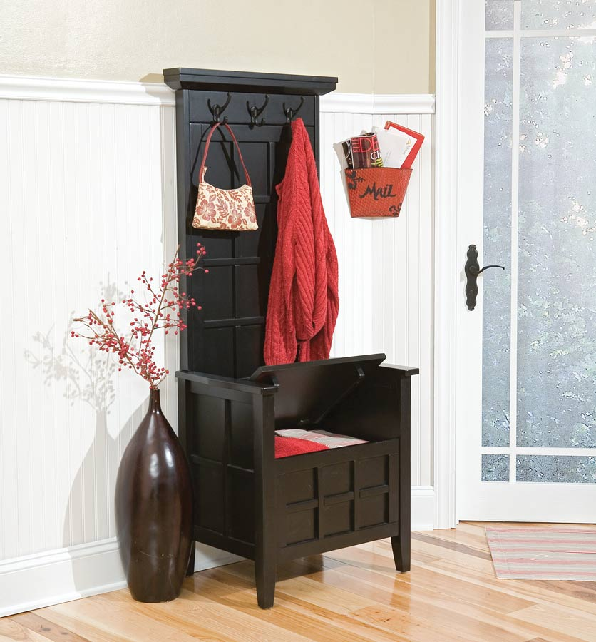 Picture of: Hall Tree Storage Bench Minimalist