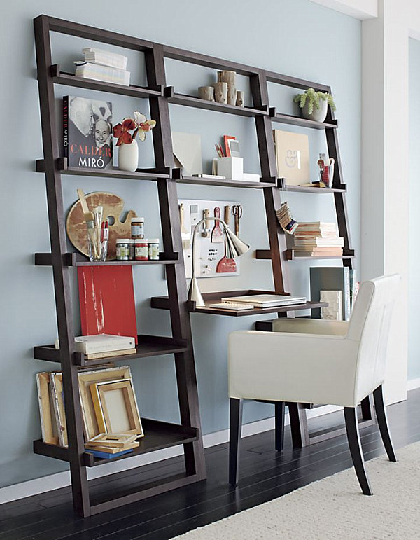 Picture of: Leaning desk from crate