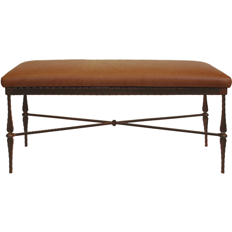 Image of: Leather Upholstered Bench