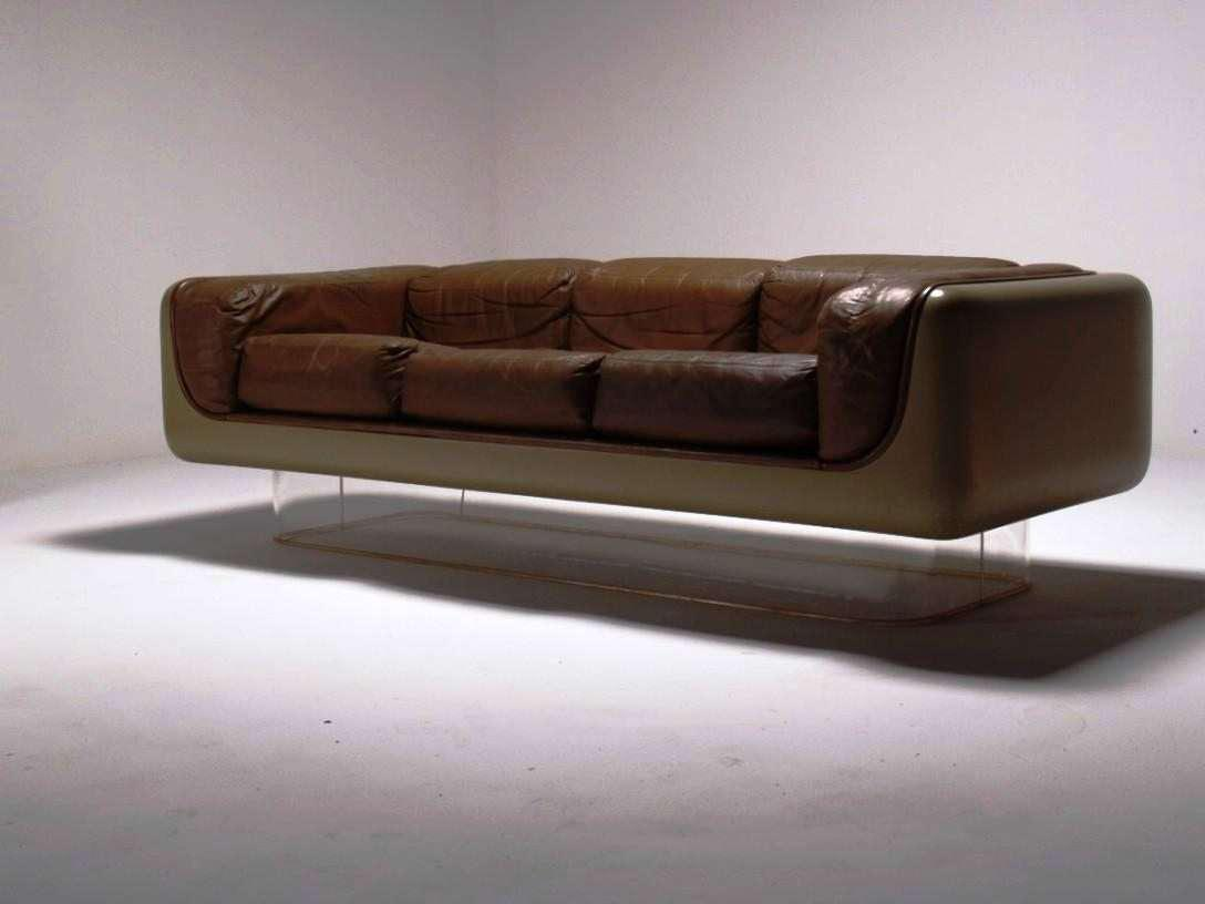 Image of: Mid Century Modern Leather Sofa